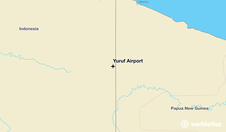 Yuruf Airport location on a map