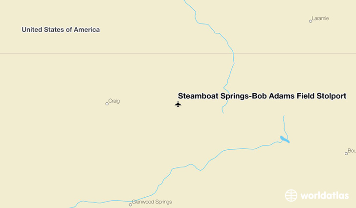 Steamboat Springs-Bob Adams Field Stolport location on a map