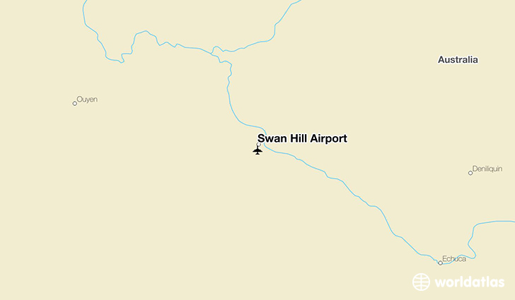 Swan Hill Airport location on a map