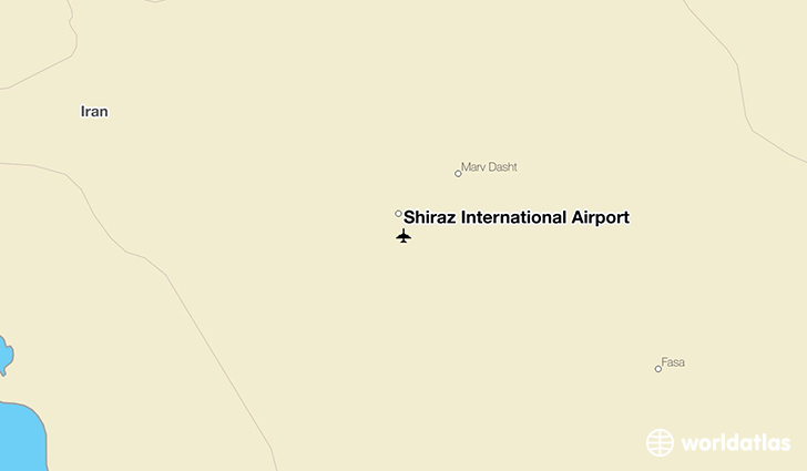 Shiraz International Airport location on a map