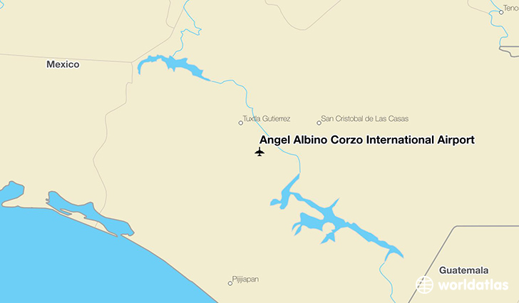 Ángel Albino Corzo International Airport location on a map