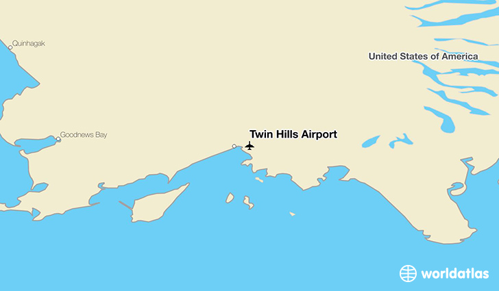 Twin Hills Airport location on a map