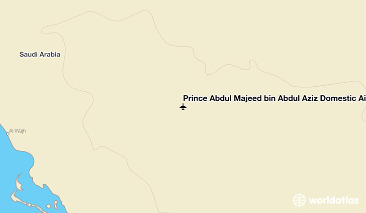 Prince Abdul Majeed bin Abdul Aziz Domestic Airport location on a map
