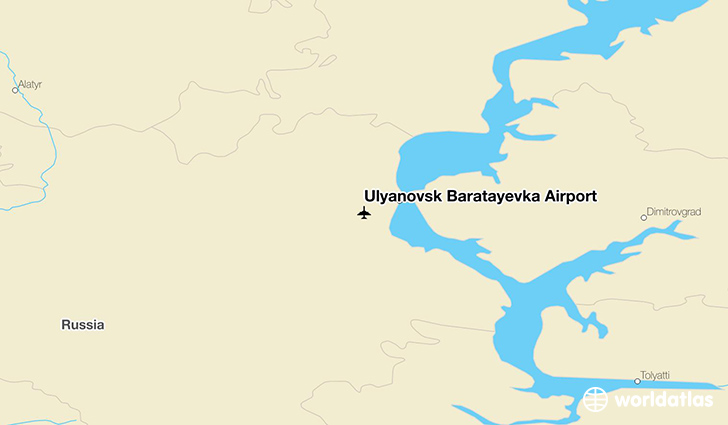 Ulyanovsk Baratayevka Airport location on a map
