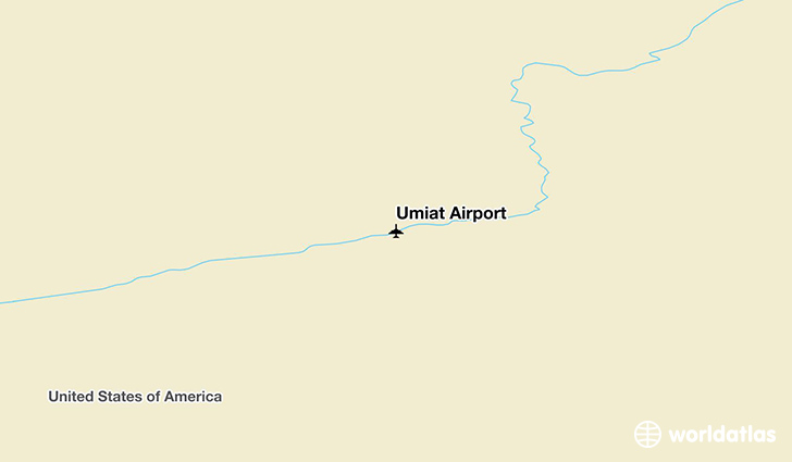 Umiat Airport location on a map