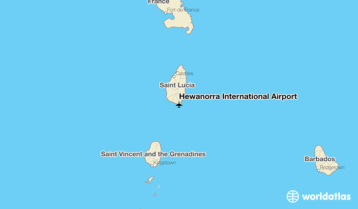 Hewanorra International Airport location on a map