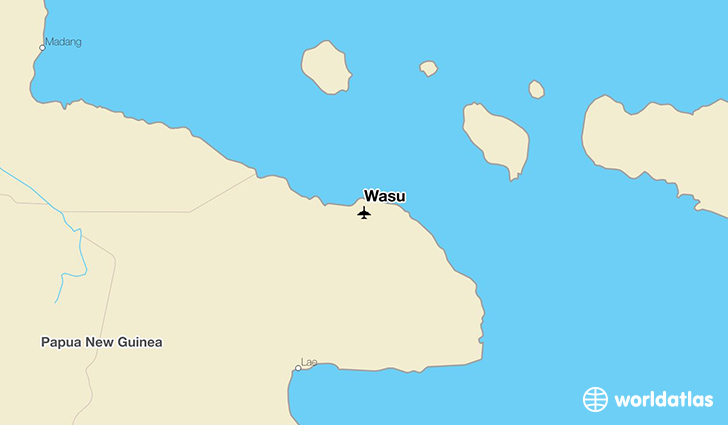 Wasu location on a map