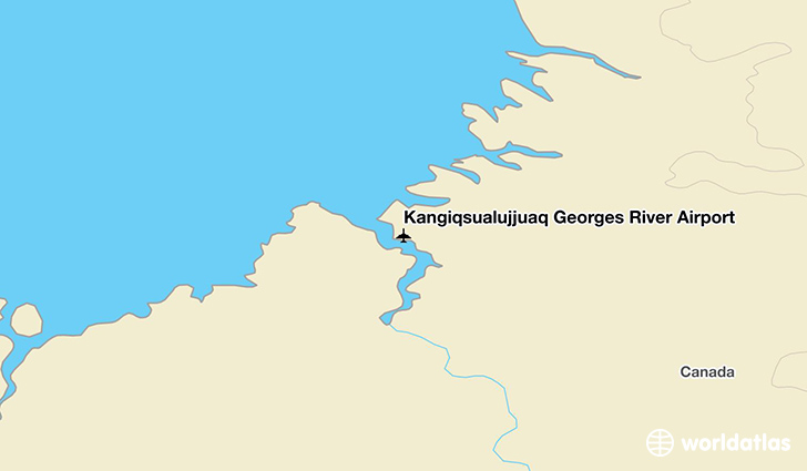 Kangiqsualujjuaq Georges River Airport location on a map