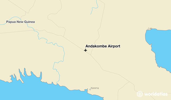 Andakombe Airport location on a map