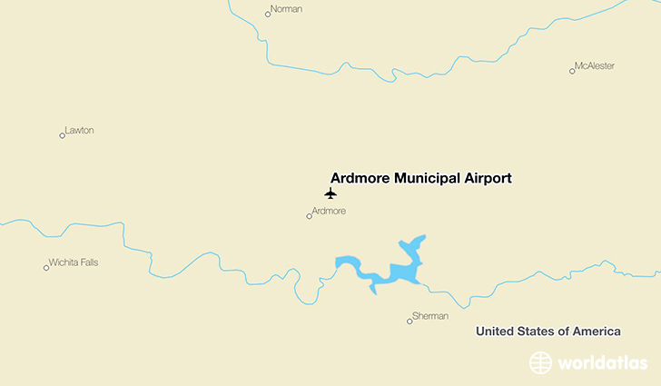 Ardmore Municipal Airport location on a map