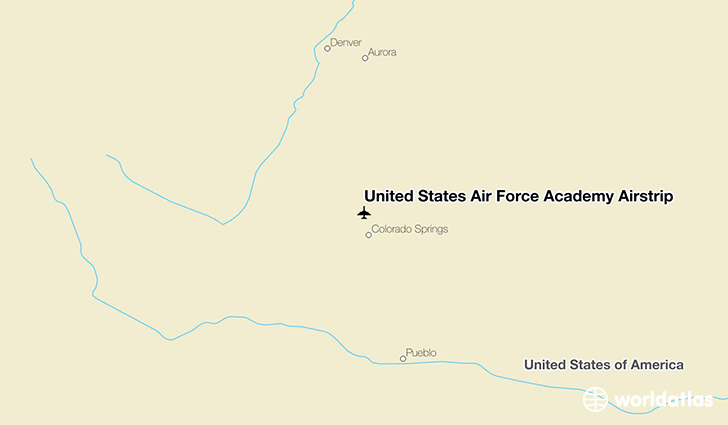 United States Air Force Academy Airstrip location on a map