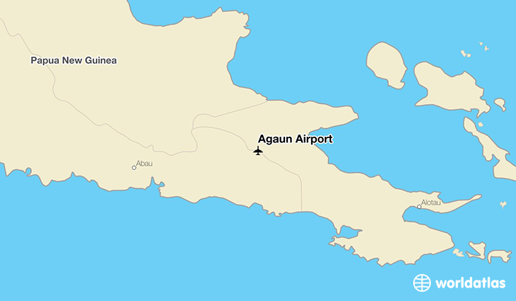 Agaun Airport location on a map