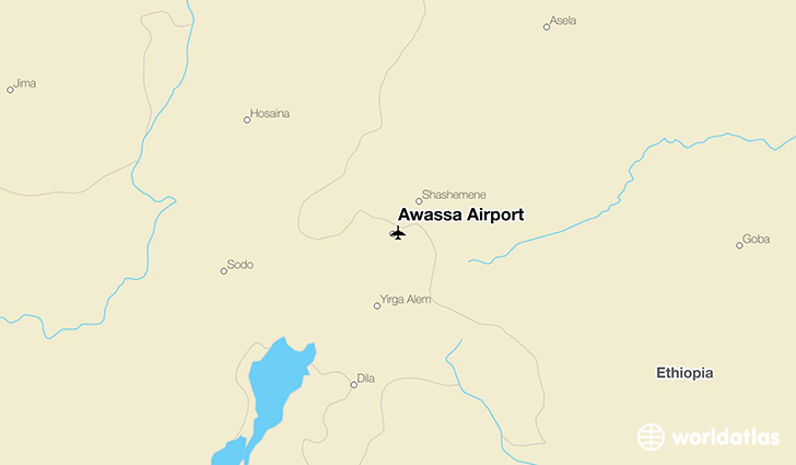 Awassa Airport location on a map
