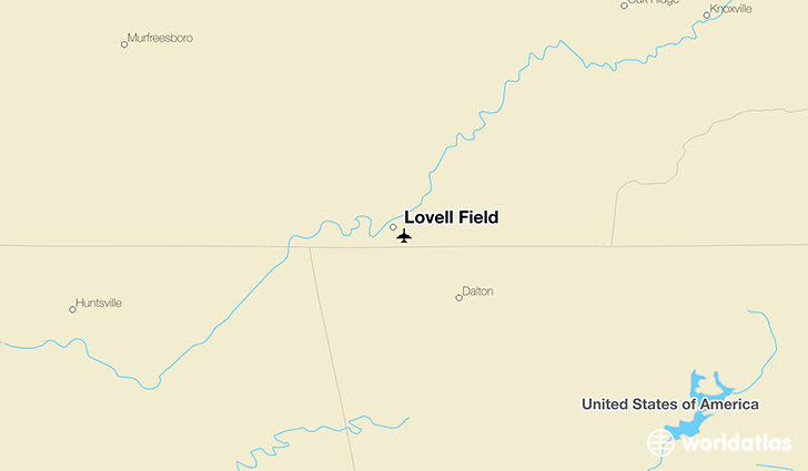 Lovell Field location on a map