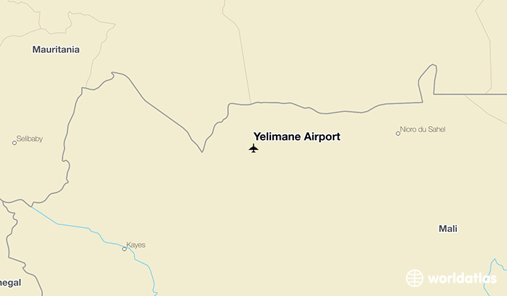 Yélimané Airport location on a map