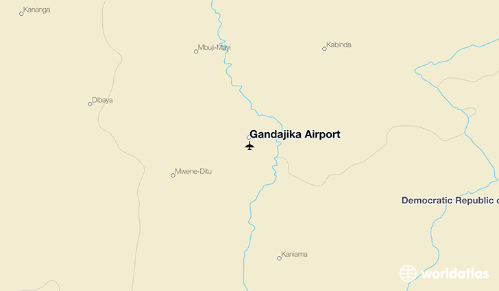 Gandajika Airport location on a map