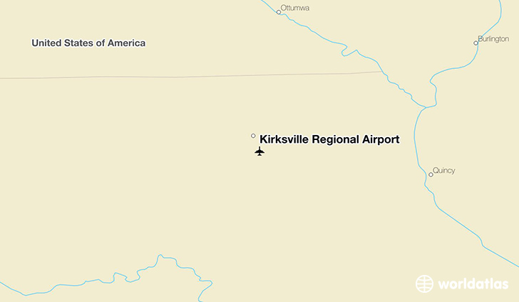Kirksville Regional Airport location on a map
