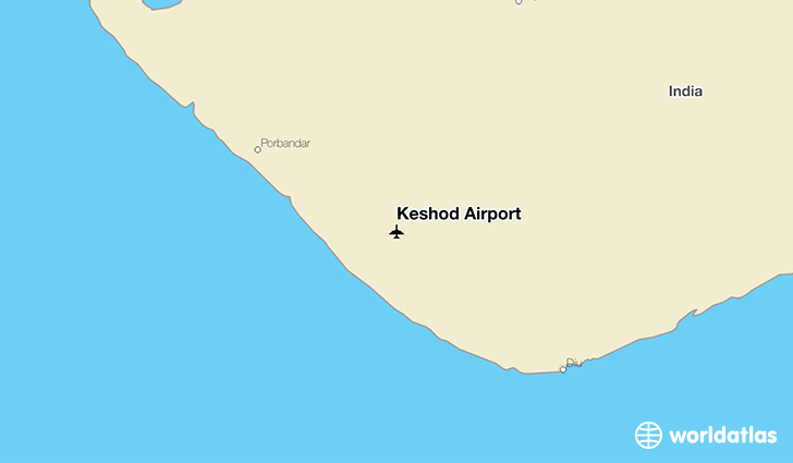 Keshod Airport location on a map