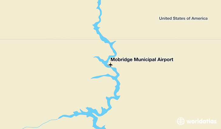 Mobridge Municipal Airport location on a map