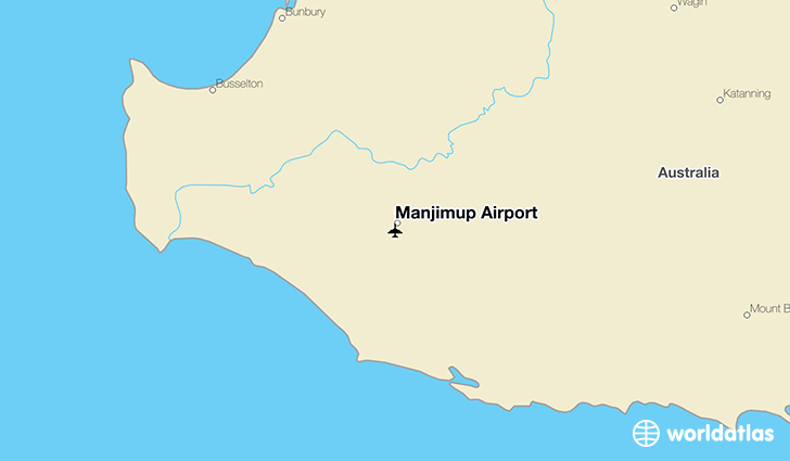Manjimup Airport location on a map