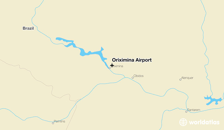 Oriximiná Airport location on a map