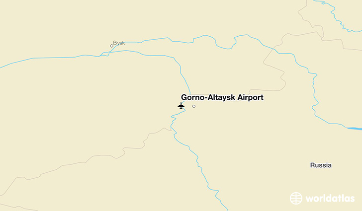 Gorno-Altaysk Airport location on a map