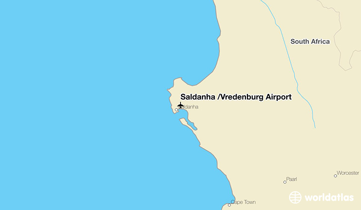Saldanha /Vredenburg Airport location on a map