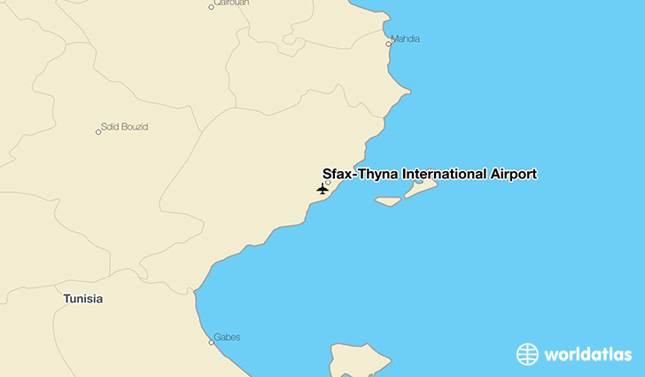 Sfax–Thyna International Airport location on a map