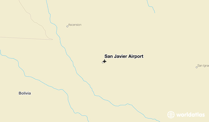 San Javier Airport location on a map