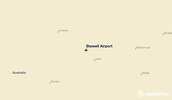Stawell Airport location on a map