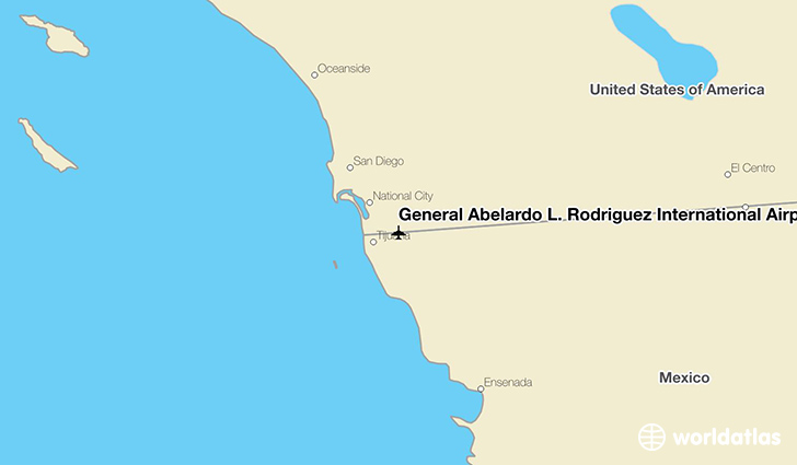 General Abelardo L. Rodríguez International Airport location on a map