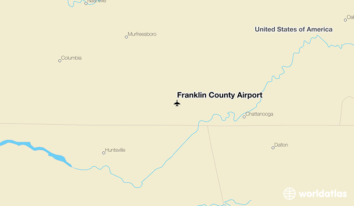 Franklin County Airport location on a map