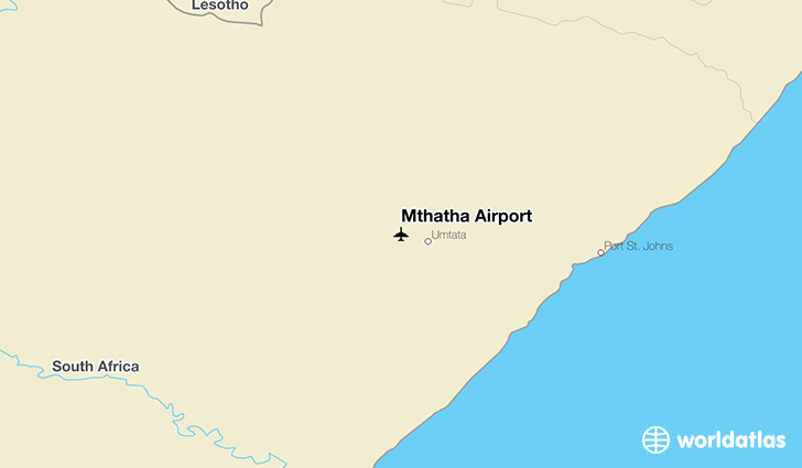 Mthatha Airport location on a map