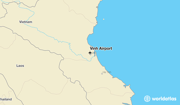 Vinh Airport location on a map
