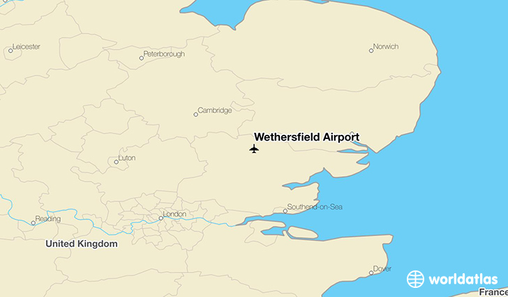 Wethersfield Airport location on a map