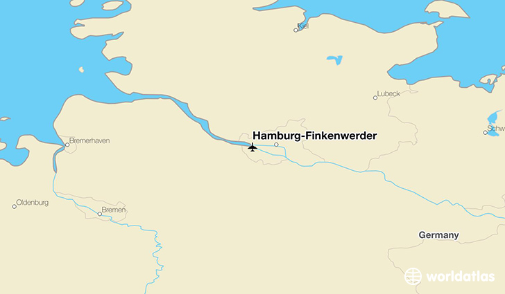 Hamburg-Finkenwerder location on a map