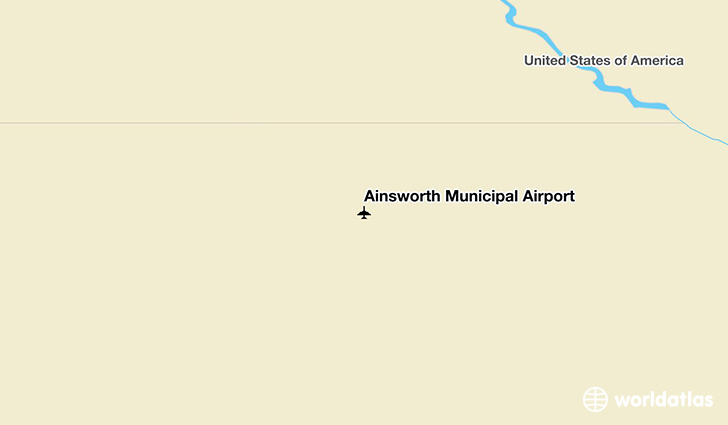 Ainsworth Municipal Airport location on a map