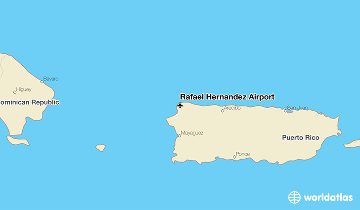 Rafael Hernandez Airport location on a map