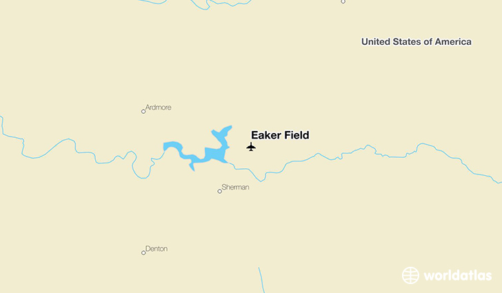 Eaker Field location on a map