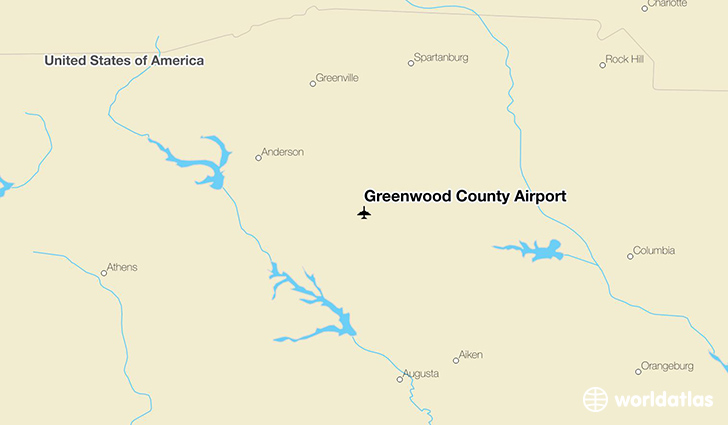 Greenwood County Airport location on a map