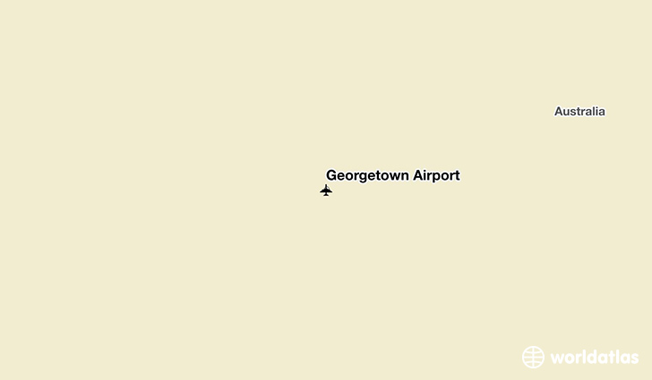 Georgetown Airport location on a map