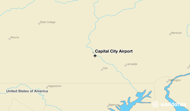 Capital City Airport location on a map