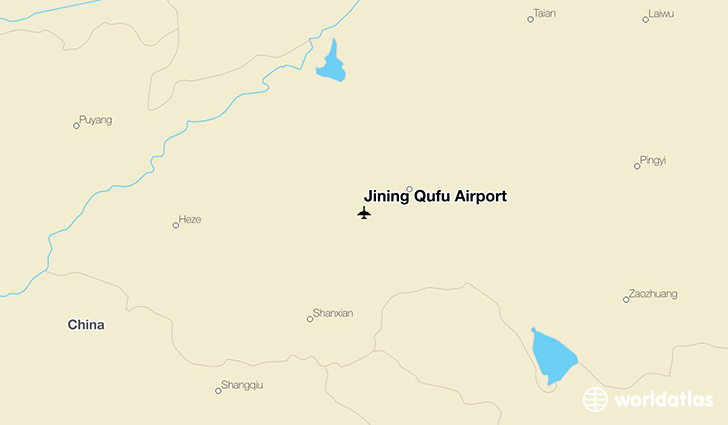 Jining Qufu Airport location on a map