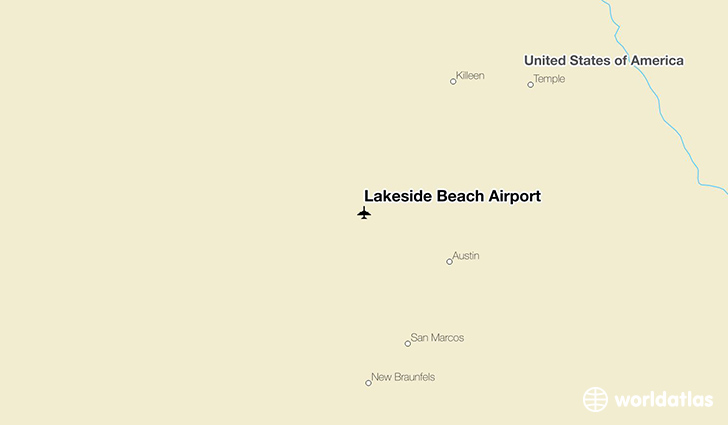 Lakeside Beach Airport location on a map