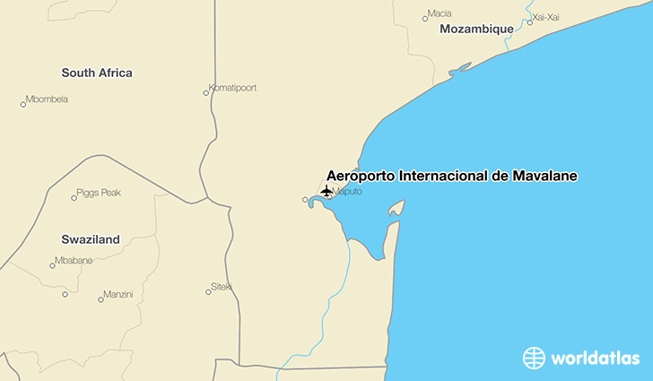 Aeroporto Internacional de Mavalane location on a map