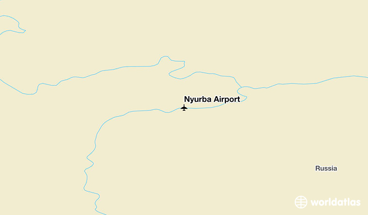 Nyurba Airport location on a map