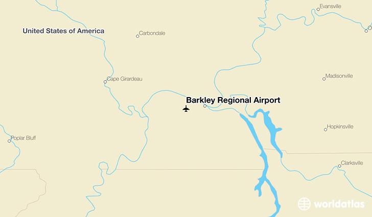 Barkley Regional Airport location on a map