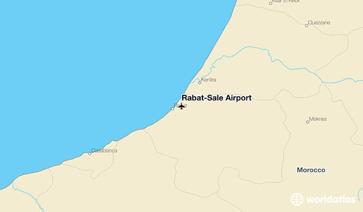Rabat-Salé Airport location on a map