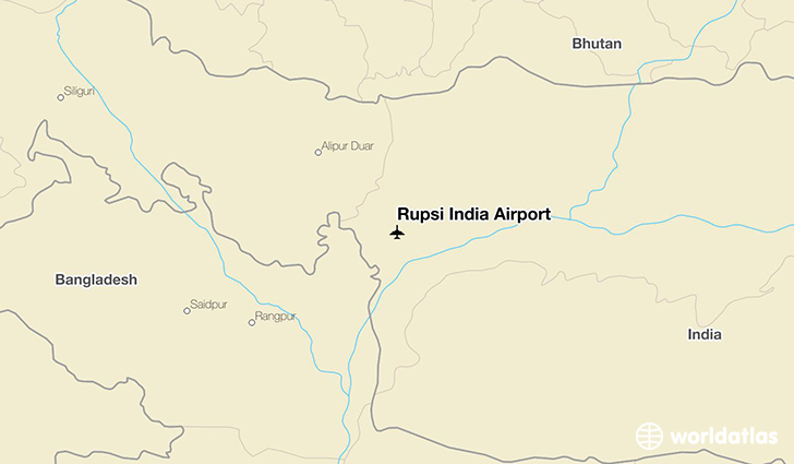 Rupsi India Airport location on a map