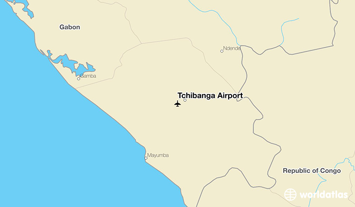 Tchibanga Airport location on a map